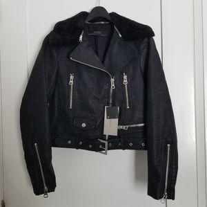 NWT Zara faux leather jacket